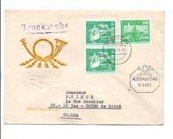ALLEMAGNE RDA DDR LETTRE FDC DE BERLIN POUR LA FRANCE 1973 - Lettres & Documents