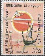 IRAQ 1971 Tourism Week - 5f - Boatman In Marshland FU - Iraq