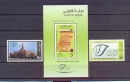 Qatar 2012 - 90 Years Of Qatari Endowment Deed - Minisheet + 2 Stamps - Complete Set - MNH** Excellent Quality - Qatar