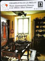 CHAMPLITTE-ET-LE-PRELOT (70) - Musée Albert Demard - Photo Int. Traditionnel - FICHE GEOGRAPHIQUE - Ed. Larousse-Laffont - Outils