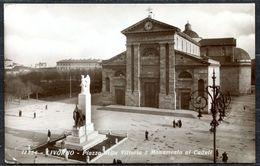 CV3234 LIVORNO (LI) Piazza Della Vittoria E Monumento Ai Caduti, FP, Viaggiata 1943 Per Lecco, Ottime Condizioni - Livorno