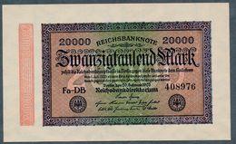 Pick 85b Ro84e DEU-95i 20000 Mark 1923 UNC ! - [ 3] 1918-1933 : República De Weimar