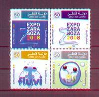Qatar 2008 - Expo Zaragoza 2008 - Stamps 4v - Complete Set - MNH** Excellent Quality - Qatar