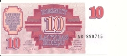 LETTONIE 10 RUBLU 1992 UNC P 38 - Letland