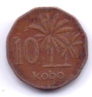 NIGERIA 1991: 10 Kobo, KM 12 - Nigeria