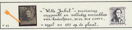 "épaulette - N°1-V3 (pos. 155) Obl Partielle ""Witte Jabot / Jabot Blanc"" / Variété Balasse V17. Cote 575e, Signé M. NOEL - 1849 Epaulettes"