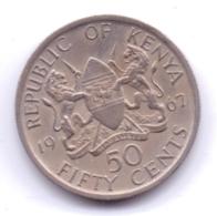 KENYA 1967: 50 Cents, KM 4 - Kenya