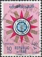 IRAQ 1959 Republican Emblem - 10f Multicoloured FU - Iraq