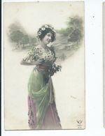 Glamour Postcard Paris Hand Coloured Young Lady Unused - Mode