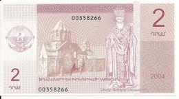 NAGORNO KARABAKH 2 DRAM 2004 UNC - Nagorny Karabach