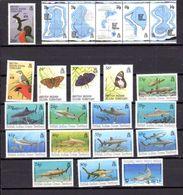Océan Indien 1994, Année Complète, Carte, Papillons, Faune Marine, 143 / 164**, Cote 67 € - Africa (Varia)