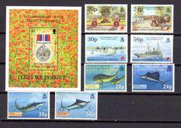 Océan Indien 1995, Année Complète, 50° De La Victoire, Poissons, 165 / 172**+ BF 5**, Cote 25 €, - Africa (Varia)