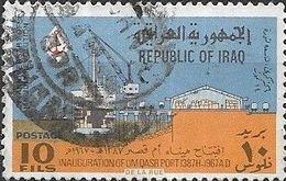 IRAQ 1967 Ninth Anniversary Of 14 July Revolution And Inauguration Of Um Qasr Port - 10f - Freighter At Quayside AVU - Iraq