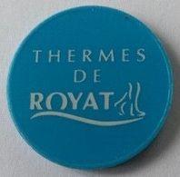 Jeton De Caddie - Thermes De ROYAT (63) - En Plastique - - Trolley Token/Shopping Trolley Chip