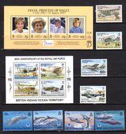 Océan Indien 1998, Année Complète, R.A.F., Baleines, 207 / 214**+ BF 10 Et 11**, Cote 40 € - Africa (Other)