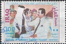 IRAQ 2001 64th Birthday Of President Hussain - 100d - Seated With Children FU - Iraq