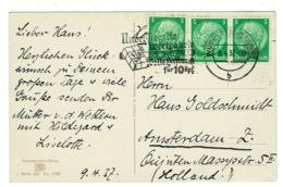 Ref 1368 - 1932 Postcard - Flowers - Good Slogan Postmark Wuppertal-Barmen - Germany - Allemagne
