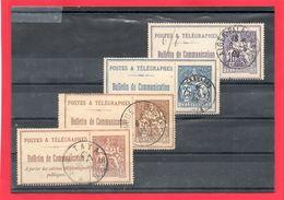 4 Timbres Téléphone Avec Cachets D'Algérie - Verzamelingen (zonder Album)
