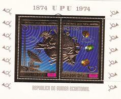 REPUBLICA DE GUINEA ECUATORIAL  BLOCS DE 2 TIMBRES  1874 U P U 1974  NEUF - Equatoriaal Guinea