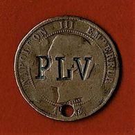 MONNAIE DE 10 C DE NAPOLEON III / 1853 BB / SURFRAPPEE * PLV * à L'avers Et * MEM 1.8.06 * Au Revers - Andere