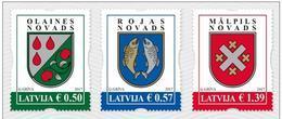 2017 Latvia Lettland Lettonie  Coat Of Arms  Small  City Logo  Stamp Set Mnh - Latvia