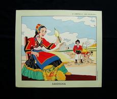 Sardegna Stampa Costume Regionale Tradizionale De Felici Jandolo Anni 50 - Vecchi Documenti
