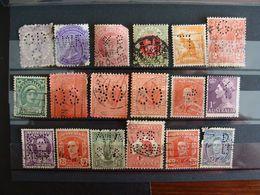 Australia- Lotto Di Francobolli Stamps - Perfin,perfins,perforated, Perforè - Perforiert/Gezähnt