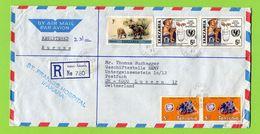 Tansania,  Tanzania  1986  Registered To Switzerland - Tansania (1964-...)
