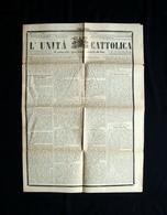 Unità Cattolica  Anno 1889 N 262  Spavento Liberali Per Troppa Massoneria - Books, Magazines, Comics