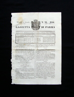Gazzetta Di Parma N 96 2 Dicembe 1846  Ducato Stemma - Books, Magazines, Comics