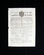 Gazzetta Di Parma N 94 25 Novembre 1846 Ducato Maria Luigia Principessa - Books, Magazines, Comics
