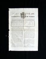 Gazzetta Di Parma N 93 21 Novembre 1846 Ducato Stemma - Books, Magazines, Comics