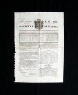 Gazzetta Di Parma N 95 28 Novembre 1846 Ducato Maria Luigia Principessa - Books, Magazines, Comics