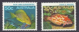 Australia - 1984 Fauna, Fish, Fishes, Blue-lined Surgeonfish, Choat's Wrasse - MNH - 1980-89 Elizabeth II