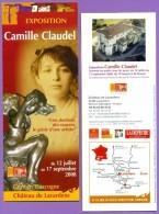 Marque-page °_ Lavardens 32 - Expo 2008 Camille Claudel - Dépli.4volets 8x21 - Bookmarks