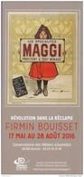 Marque-page °_ Expo Firmin Bouisset à Donzac (82) - Pub Maggi -  Flyer 10x21 - Bookmarks