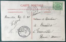 Belgique - Oblitération Mécanique Flamme 1910 - BRUXELLES EXPOSITION - (B203) - 1910-1911 Caritas