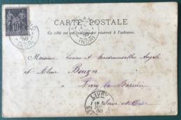 France N°103 (N/B) Sur CPA 1900 - TAD LE BLANC Indre - (B207) - 1877-1920: Semi-Moderne