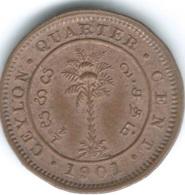 Ceylon - Victoria - 1901 - ¼ Cent - KM90 - Sri Lanka