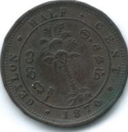 Ceylon - Victoria - 1870 - ½ Cent - KM91 - Sri Lanka