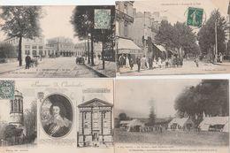 4 CPA:SOUVENIR DE CHARLEVILLE PORTRAIT DE CHARLES DE GONZAGUE DUC,LA GARE,TENTES AMBULANCE PETIT BOIS,AVENUE DE LA GARE - Charleville