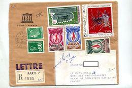 Lettre Recommandée  Paris 7 Sur Unesco Gobelins Bequet Cheffer - Marcophilie (Lettres)