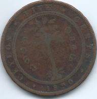 Ceylon - Victoria - 1890 - 5 Cents - KM93 - Sri Lanka