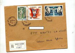 Lettre Recommandée  Saint Cloud Sur Faurat Europa Foret - Marcophilie (Lettres)