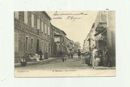 32 - MARCIAC - Rue Saint Pierre Belle Animation Bon état - Autres Communes