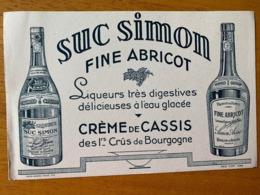 1 BUVARD SUC SIMON - Liquor & Beer