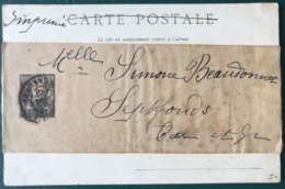 France, Bande Journal N°83-BJ Sur CPA - Tarif Imprimé - (B213) - 1877-1920: Periodo Semi Moderno