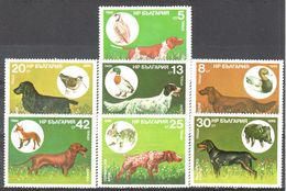 Bulgaris - Hunting Dogs - Chukar Partridge - Pochard - Mallard - Woodcock - Rabbit - Hare -Boar - Fox - MNH - Postzegels