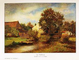 Am Mühlbach (Gemälde Von G.von Urlaub)  /  Druck, Entnommen Aus Zeitschrift / 1912 - Libros, Revistas, Cómics