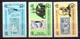 Col17  Colonie Nouvelles Hebrides N° 556 à 558 Neuf XX MNH  Cote 2,50€ - Engelse Legende